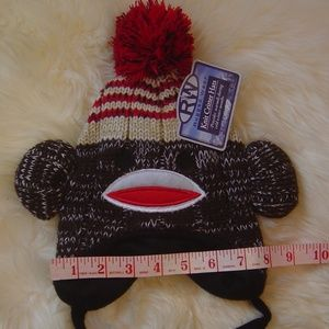 Rugged Wear Accessories - 5/$25  Fleece Lined Sock Monkey Warm Winter Hat